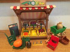 Vtg Playmobil 5341 Victorian Mansion Fruit And Vegetable Farmer's Market