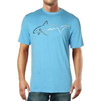 Attack Life by Greg Norman Mens Blue Active Short Sleeve T-Shirt S BHFO 9319