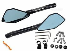 Motorcycle Adjustable CNC Rearview Side View Mirrors Black For Ducati Aprilia