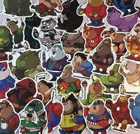 Fat Superhero Stickers Star Wars, Marvel, DC, Mario, Smurfs, Robin-hood + MORE!!