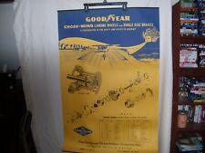 Vintage Goodyear Aviation Advertising Dealer Banner Poster Sign Cross Wind Brake