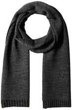 $55 Calvin Klein Men's Plaited Logo Scarf, Charcoal/Black