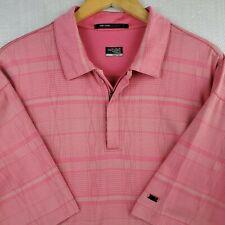 NIKE TIGER WOODS COLLECTION Size XL 1/4 Zip Polo Shirt Mens Golf Argyle Cotton