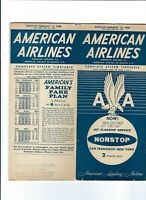 American Airlines  February  14 1960 Timetable