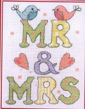 """Anchor Counted Cross Stitch Kit """"Mr & Mrs"""""""