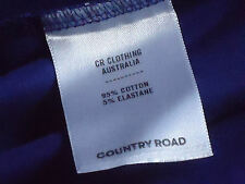 COUNTRY RD Blue95%CottonMixStretchMini SzXL