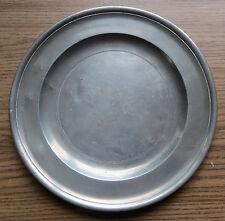 H & J REID GLASGOW OLD PEWTER PLATE c 1800