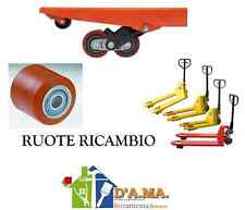 RUOTE RULLI CUSCINETTI PER TRANSPALLETS CARRELLO DIAM. 80X80 L. FORO 20 MM