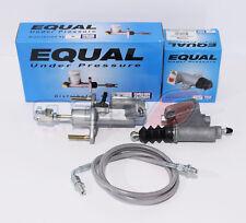Exedy Master & Slave Cylinder & Silver Clutch Line Kit 06-11 Honda Civic Si
