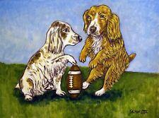 Cocker Spaniel football dog art Print Jschmetz 8x10 american artist pop gift