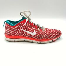 Nike Womens Free Tr Fit 4 5.0 Print Running Shoes Red Lace Up 629832-601 9.5