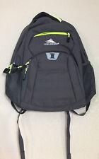 High Sierra Riprep Backpack Grey/Neon Large Laptop Pocket included,