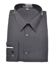 Men's dark gray color long sleeves dress shirt (18 1/2 / 36-37 )