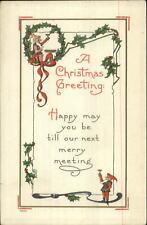 Christmas - Gnomes Elves Toasting NASH c1910 Postcard