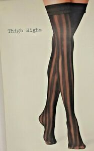 A New Day Women's Thigh Highs Striped Choose Size One Pair Black