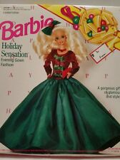 Vntg Barbie Holiday Sensation Evening Gown Fashion 1992 NEW