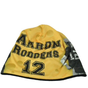 NFL Green Bay Packers Aaron Rodgers 12 Sublimated Player Yellow Knit Beanie Hat