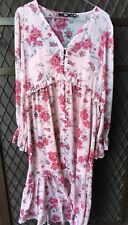 Sportsgirl FLOATY FLORAL DOBBY MIDI DRESS Pink Slip RRP $169 Size S & SOLD OUT!!