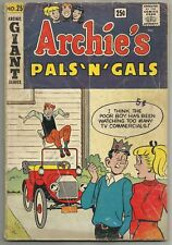 ARCHIE'S PALS 'N' GALS #25 (Betty, Veronica, Jughead, Riverdale, Giant) 1963