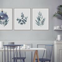 Nordic Green Eucalyptus Leaves Posters Print Wall Art Home Decor Canvas Painting