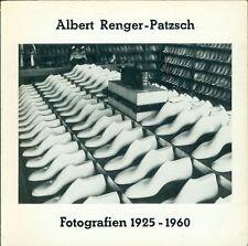RENGER-PATZSCH Albert. Fotografien 1925-1960. Industrielandschaft. 1977