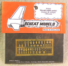 Reheat 1/48 Aircraft Rudder Pedals (Modern & Vintage) Photo-Etched Detail Set