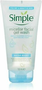 Simple Water Boost Micellar Facial Gel Wash - 150ML NEW UK