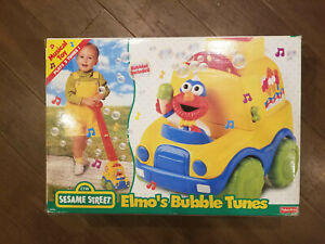 Fisher-Price Sesame Street Elmo's Bubble Tunes Push Toy-New from 1990's