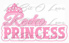 RODEO PRINCESS VINYL DECAL STICKER CAR AUTO BARREL RACER COWGIRL THEMED