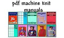 Brother KH-910/CompuKnit II Knitting Machine Manuals & Pattern books on CD **