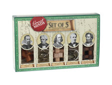 Great Minds Set of 5 Puzzle Compendium from Professor Puzzle- 3 Wooden & 2 Metal