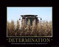 Farming Motivational Poster Art Print Poster Farmall IH Tractor 11x14 MVP43