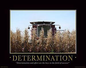 Farming Motivational Poster Art Print Farmall Case IH Combine Office Wall Decor