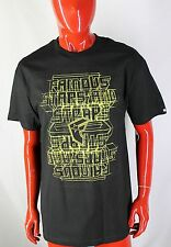 FAMOUS STARS AND STRAPS NEW Size LARGE Short Sleeved Black Shirt Nice L