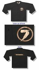 SEVENDUST 7 CIRCLE LOGO BLACK WINDBREAKER JACKET LARGE NEW OFFICIAL BAND