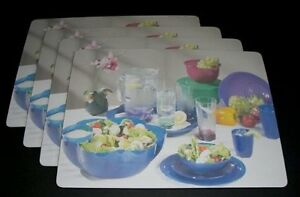Tupperware Thick Heat Resistant Placemats Set of 4 - Rare Consultant Reward!!
