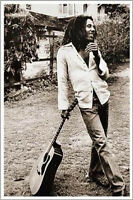 Bob Marley poster rare OOP standing with guitar 24 x 36