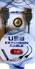 Maxxter USB 2.0 Câble D'extension 5m, Noir