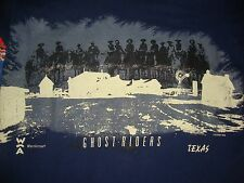 Vintage 1990's GHOST RIDERS Texas Cowboy tourist T Shirt Adult Size L