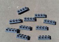 Lego Lot of 10x Dk New Gray Bricks # 30414 Brick Modified 1x4 w/ 4 Studs on Side