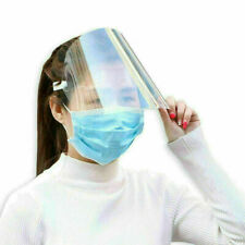 5Pcs Reusable Clear Adjustable Anti-Splash Full Face Protective Head Gear Shield