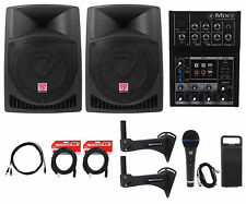 "Complete Crossfit Gym Sound System (2) Rockville 12"" Speakers+Mackie Mixer+More!"