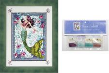 Nora Corbett Mirabilia Cross Stitch Pattern & Emb Pk Moonlight Mermaid Nc285
