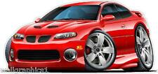 2004 Pontiac GTO Cartoon Car Wall Decal Game Room Graphics Garage Cling Poster