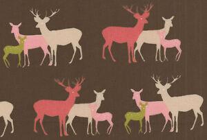 0.5 metre Westfalenstoffe Linz - Deer 100% Cotton 150cm wide