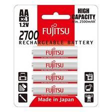 4x FUJITSU AA HR06 pronto per l'uso di batterie ricaricabili NiMH Alta 2700 mAh