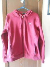 Adult Under Armour Long Sleeve Maroon Zip-Up Hoodie/Jacket Size Xl