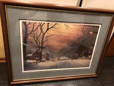 MOUNTAIN SLEIGH RIDE by HT Becker LE Artist proof Framed