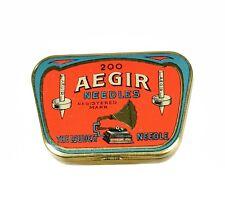AEGIR NEEDLES Nadeldose Grammophonnadeldose Blechdose alt needle tin gramophone
