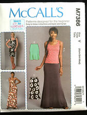 7386 MCCALLS Misses LEARN TO SEW Top Maxi Mini Dress Skirt Pattern UC 4-14 NEW